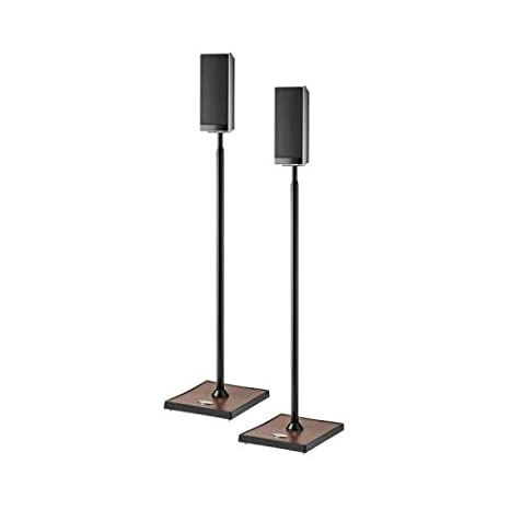 OmniMount Elo Series Adjustable Height Speaker Stand High Gloss Black