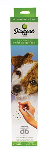 Leisure Arts - Diamond Art Sparkle Art Diamond Paint by Number Puppy Kit - 5D Pixel Painting DIY Arts and Crafts for Kids Canvas Wall Decor