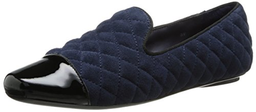 Marine Dress Blues For Sale (VANELi Women's Brucie Slip-On Loafer,Marine Blue Quilted Suede/Black Patent,8.5 M US)