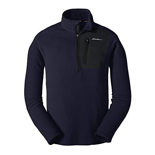 Eddie Bauer Men's Cloud Layer Pro 1/4-Zip Pullover, Atlantic Regular L (Sports Brand First Ascent Of The Mountain)