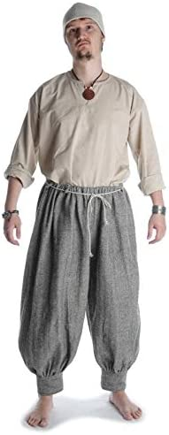 HEMAD Munin Pantalon Viking Coton - Motif à Chevrons S/M, L/XL, XXL/XXXL - Multicolore
