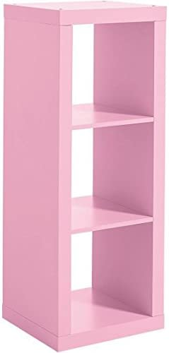 Better Homes and Gardens 3-Cube Organizer, Pink Finish