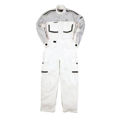 kurehifuku(クレヒフク)つなぎ おしゃれ ツナギ ピットスーツ カジュアルつなぎ kr-kr904 B008H1XIBC M|ホワイト ホワイト M