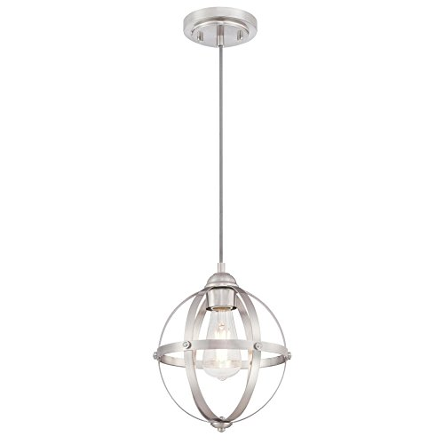 Westinghouse Lighting 6362000 Stella Mira One-Light Mini, Brushed Nickel Finish Indoor Pendant