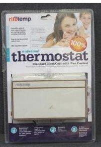 Ritetemp 6010 Heat Cool Fan Control Thermostat, Heat Pump