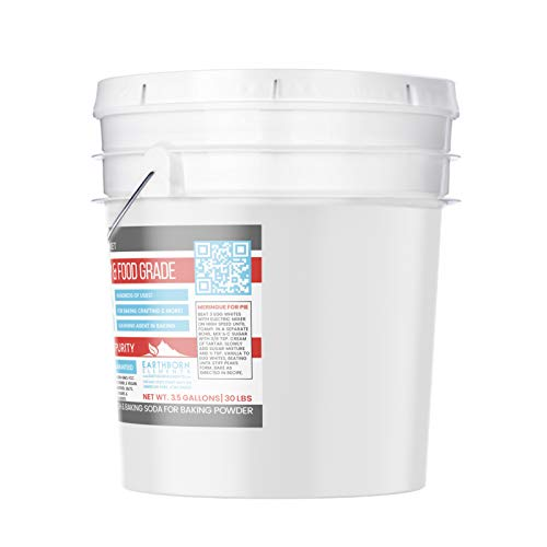 Cream of Tartar (3.5 Gallon) by Earthborn Elements, Resealable Bucket, Highest Purity, Baking Additive, Non-GMO, Kosher, Gluten-Free, All-Natural, DIY Bath Bombs by Earthborn Elements (Image #1)