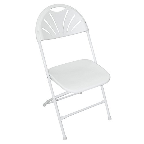 New 8PCS Sitting Chair Home School Class Study Wedding Foldable Molded Seat White by MTN Gearsmith