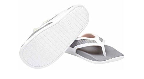 Adidas Womens Supercloud-Footbed Grey Flip Flop Sandals