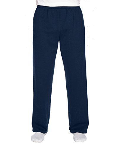 Fruit of the Loom Sofspun Pocketed Open Bottom Sweatpants,J Navy,XX-Large ()