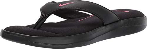 Nike Women's Ultra Comfort 3 Thong Sandal Black/Hyper Pink Size 8 M US (Thong Comfort Woman Sandal Nike)