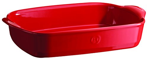 Emile Henry 349652 France Ovenware Ultime Rectangular Baking Dish, 14.2 x 9.1, Burgundy