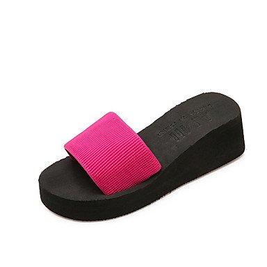 Women'szapatillas &Amp; Flip-Flops Verano tela ca¨ªda casual otros plataforma Negro Rojo US8 / EU39 / UK6 / CN39
