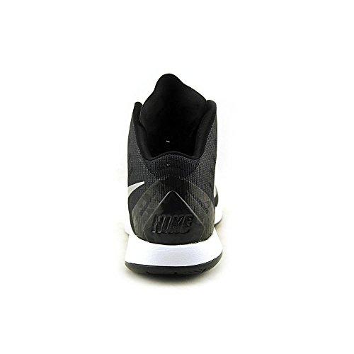 Scarpa Da Basket Nike Mens Lunar Hyperquickness Nero / Bianco / Argento Metallizzato