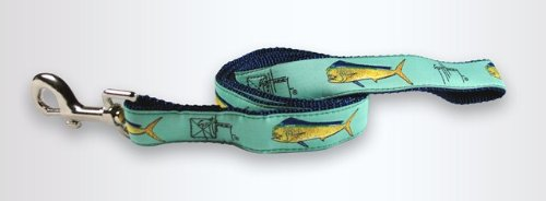Guy Harvey Bull Dolphin - GUY HARVEY DOG LEASH- seafoam BULL DOLPHIN