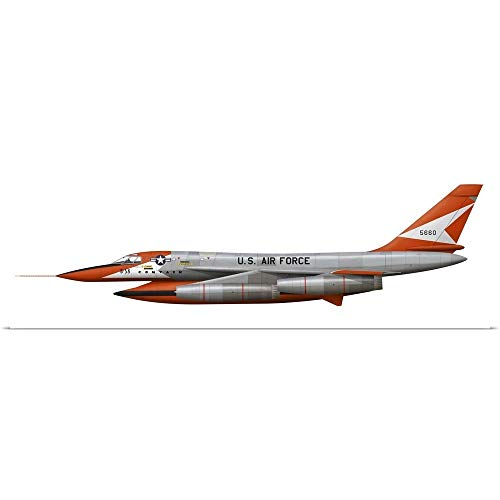"""GREATBIGCANVAS Poster Print Entitled Illustration of a YB-58A-1-CF Hustler by Ink Worm 48""""x16"""""""