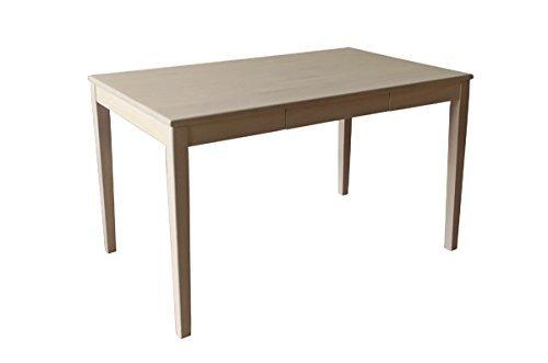 引き出し付きダイニングテーブル 【幅120cm】 木製 ホワイトウォッシュ【代引不可】 B01ABG93M8