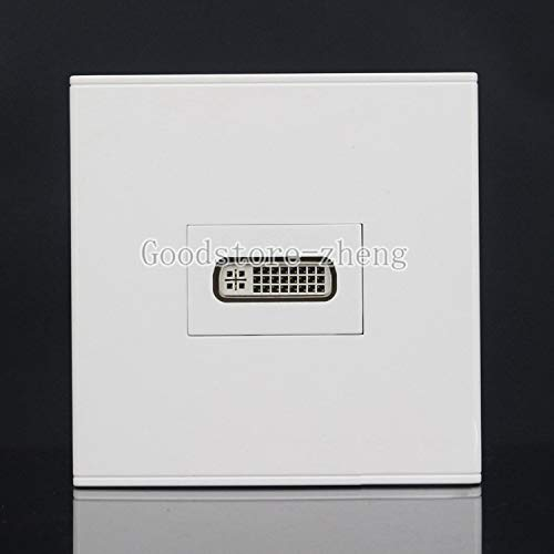 Cables & Connectors Wall Face Plate 24+4 Pin DVI DVI-I Coupler Female to Female Outlet Faceplate - (Cable Length: Wall Plate) ()