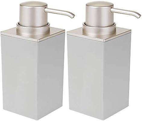 mDesign Juego de 2 dosificadores de jabón recargables – Útil ...