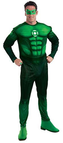 Green Lantern Deluxe Hal Jordan Costume With Muscle Chest, Green, X-Large -