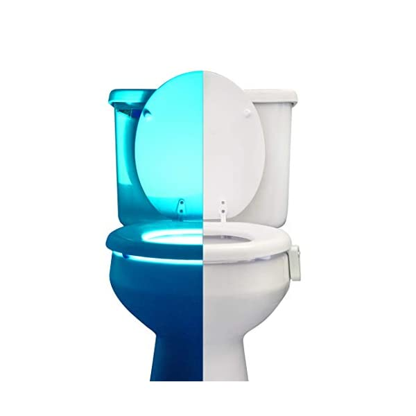 RainBowl Motion Sensor Toilet Night Light Funny Unique Birthday Gift Idea