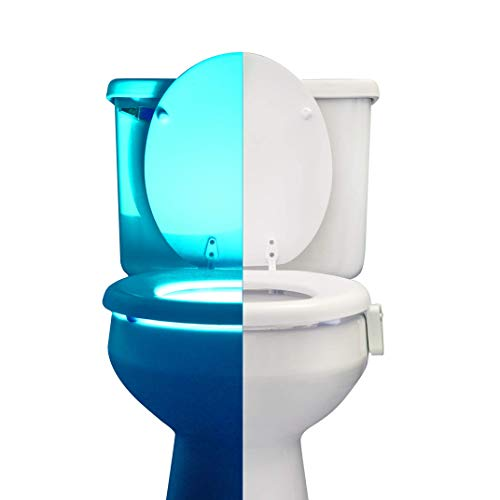 RainBowl Motion Sensor Toilet Night Light - Funny & Unique Birthday Gift Idea for Dad, Mom, Him, Her, Men, Women & Kids - Cool New Fun Gadget, Best Gag Christmas Present -