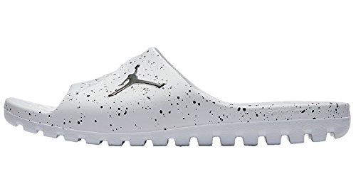 Nike Men Jordan Super.Fly Team Beach and Pool Shoes White (White/Black 100)