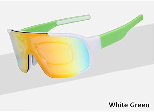 WTAKE防風サングラス、最新スポーツ偏光メガネ3セット交換可能レンズTr90超軽量フレームメンズレディースフィッシングゴルフスキー用紫外線防止HDビジュアル,Skyblue