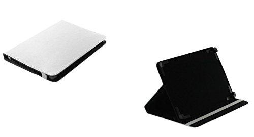 Bookstyle Tablet PC Tasche Etui Hülle Book Case weiß mit Aufstellfunktion passend für Lenovo Tab 2 A10-70