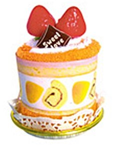 Blanco y naranja pastel toalla/franelas phuapradi Fruite tarta con fresas 2 toalla tipo: Amazon.es: Hogar