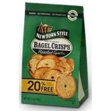 New York Style Garlic Bagel Crisps, 7.2 Ounce - 12 per case.