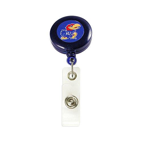 Aminco NCAA Kansas Jayhawks Retractable Badge Reel Id Ticket Clip