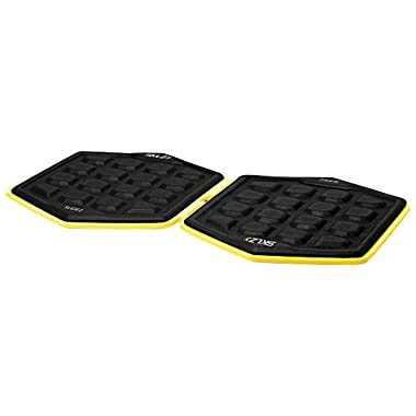SKLZ Slidez - Pair of core stability exercise sliding discs with carry bag and unique grip pattern for hands and feet