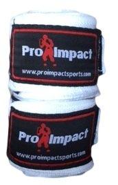 Pro Impact Boxing/MMA Handwraps 180 Mexican Style Elastic 1 Pair WHITE (WHITE) (Pro Elastic)