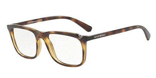 Emporio Armani 0EA3110, Monturas de Gafas para Hombre, Dark Havana, 55