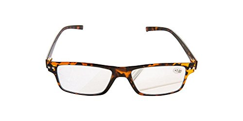 Eyewear readers Tortoise Super Light Weight Thin PC Frame Reading Glasses with PC Lens Strength +1.25 glasses headband glasses optical frame - Brand Glasses Frames Police