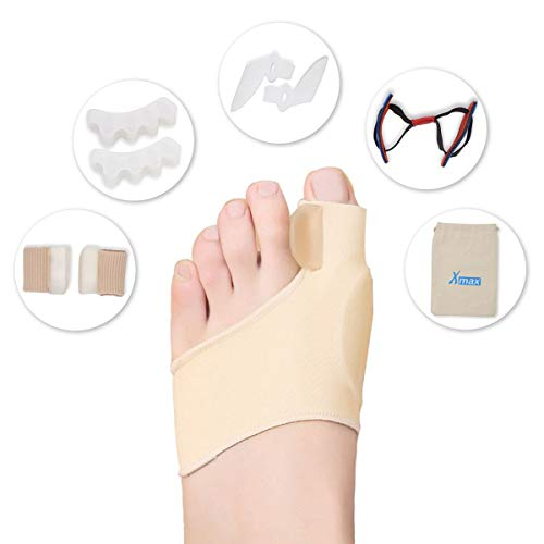 Orthopedic Bunion Splint Corrector Relief - 9 PCS Silicone Kit Mild Hallux Valgus Hammer Toe for Men Women