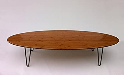 Ordinaire 66u0026quot; Surf Board Elliptical Mid Century Modern Coffee Table Hairpin Legs    Eames Proportion Atomic