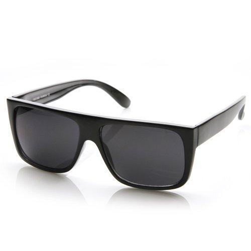 zeroUV - Classic Old School Eazy E Square - Flat Black Mens Sunglasses