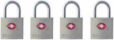 Master Lock 4683Q 4-Pack Keyed-Alike Luggage Locks