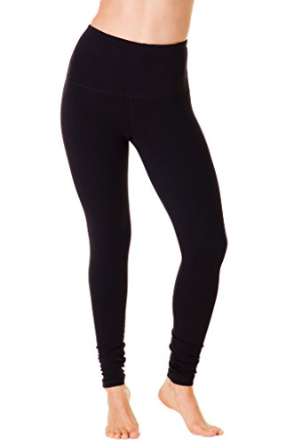 90 Degree By Reflex   High Waist Cotton Power Flex Leggings   Tummy Control   Black M