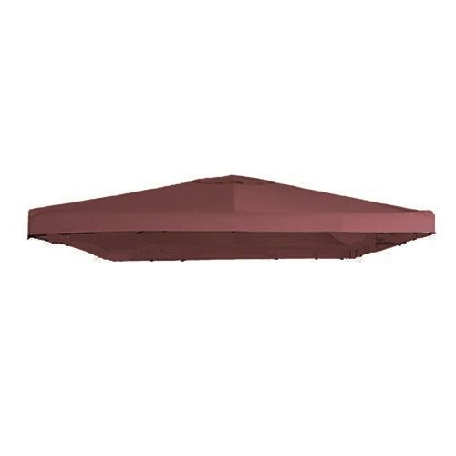 Universal 10' x 10' Single Tiered Replacement Gazebo Canopy - RipLock 350 - Nutmeg (Single Tiered)