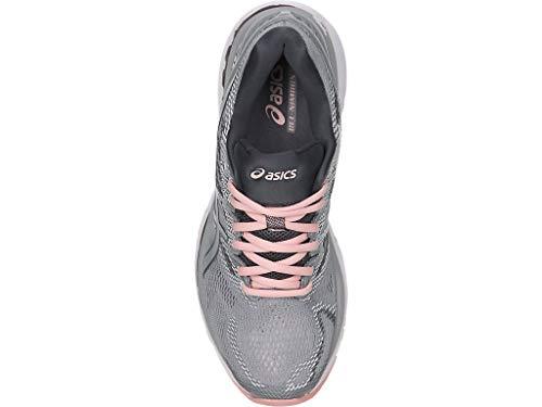 ASICS Women's Gel-Nimbus 20 Running Shoe, mid grey/mid grey/seashell pink, 5 Medium US by ASICS (Image #2)