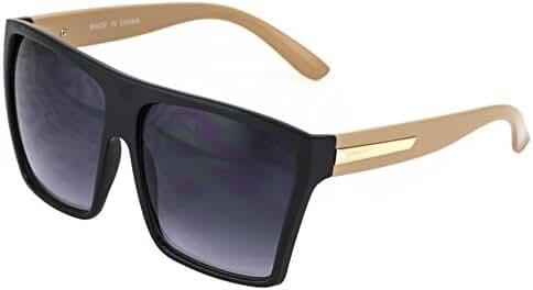 XL Vintage Wayfarer Aviator Retro Flat Top Oversized Square Sunglasses Man Woman