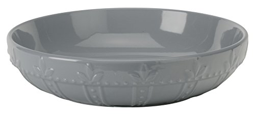 Signature Housewares Sorrento Collection Large Pasta Bowl, 12-Inch, Light Gray
