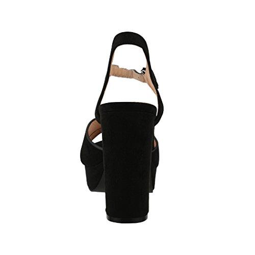 de Elara Mujer Tobillo Tira Negro TxnqY48