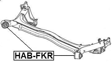 FEBEST HAB-FKR Rear Arm Bushing