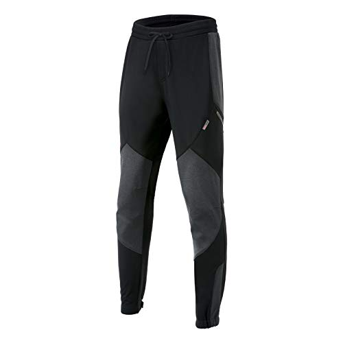 Santic Cycling Pants Mens Bike Winter Fleece Thermal Athletic Pants Loose Fit Windproof Running Hiking Outdoor Sport Trousers