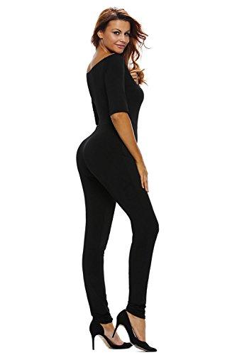 Mesdames épaule noir Off Combinaison Clubwear Vêtements Taille M UK 10–12–EU 38–40