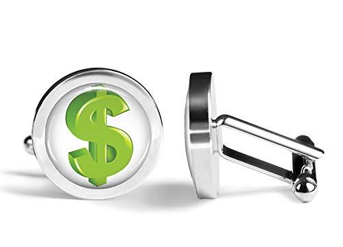 Oakmont Cufflinks Dollar Sign Cufflinks Money Cash Cuff Links (Angled Edition)