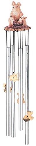 StealStreet SS-G-41273 Round Top Pig Hanging Garden Porch Decoration Wind Chime ()